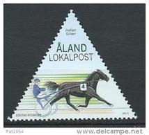 Aland 2015 N° 406 Neuf Cheval Course De Trot - Aland