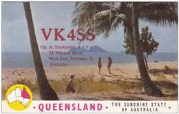 QSL Card Amateur Radio CB Australia Brisbane Queensland 1966 - Radio-amateur
