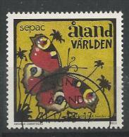 Aland 2013 N°382 Oblitéré Papillon  Sepac - Aland