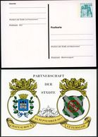 Bund PP100 D2/017 GÜTERSLOH CHATEAUROUX STADTWAPPEN 1977 - Briefe U. Dokumente