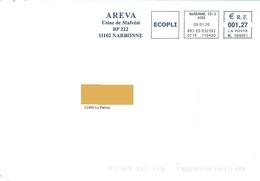 EMA ML 088091 Aude Flamme Areva Narbonne Malvési énergie Nucléaire - Postmark Collection (Covers)
