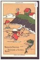 PUBLICITE BISCUITS NANTAIS DUCASSE & GUIBAL - PAR MARECHAUX - NATATION - TB - Advertising