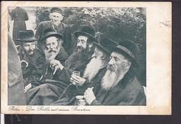 """Judaika Ansichtskarte Lodsch , Litzmannstadt  """" Der Rebbe Mit Seinen Beratern """" SS Feldpost  1940 - Allemagne"""