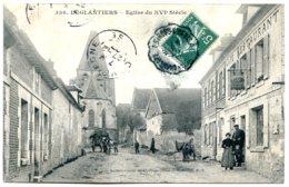 60420 LEGLANTIERS - Eglise Du XVIe Siècle - Canton De Maignelay - Café De La Gare - Attelages - France