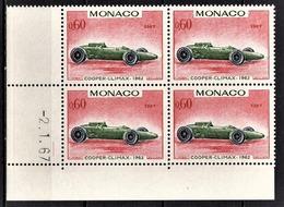MONACO 1967 - BLOC DE 4 TP / N° 718 - NEUFS** COIN DE FEUILLE / DATE - Mónaco
