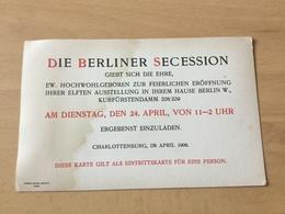 GÖ1939 Deutsches Reich 1906 Einladung Zur Berliner Secession - Allemagne