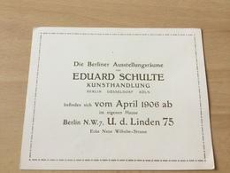 GÖ1939 Deutsches Reich 1906 Kunsthandlung Eduard Schulte - Allemagne