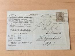 K8 Deutsches Reich Ganzsache Stationery Entier Postal P 95 Mit Zudruck Von Stuttgart Leinöl Und Andere Öle - Allemagne
