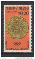 Paraguay, Calendrier Solaire, Solar Calendar, Soleil, Sun, Antiquité, Antiquity, Archéologie, Sculpture, Jeux Olympiques - Paraguay