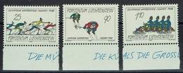 Liechtenstein 1987 - Olympische Winterspiele 1988, Calgary. - MiNr 934-936 - Invierno 1988: Calgary