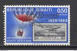 Haïti, Haitia, Montgolfière, Hot Air Balloon, Exposition Philatélique, Belgica, Philatelic Exhibition, Surimpression, - Montgolfier