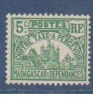 MADAGASCAR          N°  YVERT  :  TAXE 10  NEUF SANS GOMME    ( SG  1/41 ) - Madagascar (1889-1960)