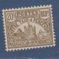 MADAGASCAR          N°  YVERT  :  TAXE 12  NEUF SANS GOMME    ( SG  1/41 ) - Madagascar (1889-1960)