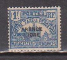 MADAGASCAR          N°  YVERT  :  TAXE 25 NEUF SANS GOMME    ( SG  1/41 ) - Madagascar (1889-1960)