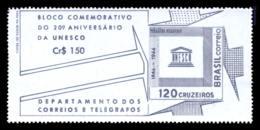 BRAZIL 1966 S/S Mint MNH // UNESCO, 20th Anniversary - Blokken & Velletjes