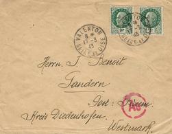 1943- WWII - Enveloppe De Valenton  Affr.  2 F Pétain X 2  Pour Diedenhofen ( Thionville ) - Storia Postale