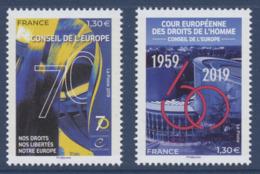 N° 174 Et 175 Année 2019 Faciale 1,30 Et 1,30 € - Servizio