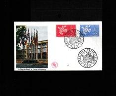 1309 1310 Paris Exposition Philatélique Europa 17 Septembre 1961   942 - Postmark Collection (Covers)