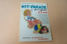 BELLE ILLUSTRATION HUMORISTIQUE ....HIT PARADE DE L'AMOUR A 17 ANS .....QUEUE DE CLASSEMENT - Humor
