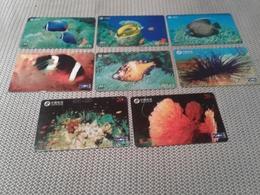 China - 8 Thematic Phonecards - China