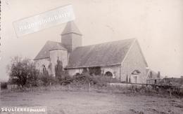 CPA PHOTO - 51 - SOULIERES (Marne) - Aucune Légende Autre Que Le Nom Du Village écrit à La Plume - CARTE RARE - Voy 1955 - France