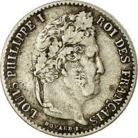 Monnaie, France, Louis-Philippe, 1/4 Franc, 1833, Lille, TB+, Argent, Gad 355 - France