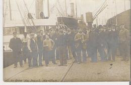 DUNKERQUE. Carte Photo Grève Des Inscrits Maritimes De 1907 Cp Adressée De Dunkerque - Dunkerque