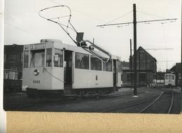 LEUVEN  : TRAM :   Ligne  Heverlee - Linden      ** Foto Van Oude Cliché (14 X 9 Cm) Photo Vieux Cliché - Trains
