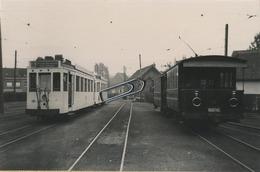 GRIMBERGEN  : TRAM :          ** Foto Van Oude Cliché (14 X 9 Cm) Photo Vieux Cliché - Trains