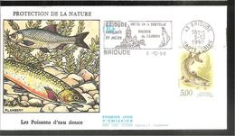 FDC 1990 Les Poissons  D Eau Douce - FDC