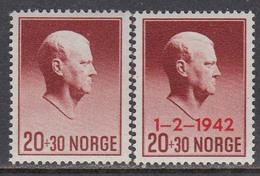 Norway 1942 - Hilfsfonds, Mi-Nr. 265/66, MNH** - Nuevos