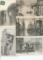 Lot De 50 Cpa Innondations De 1910 Paris Et Banlieue - Cartes Postales