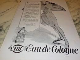 ANCIENNE PUBLICITE EAU DE COLOGNE 4711 TENNIS 1927 - Parfum & Cosmetica
