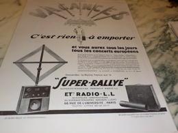ANCIENNE PUBLICITE VACANCES SUPER RALLYE RADIO LL 1927 - Autres