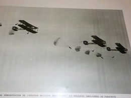 ANCIENNE PHOTO  DEMONSTRATION DE PARACHUTE 1927 - Transports