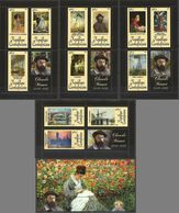 CA1050 2011 CENTRAL AFRICA ART PAINTIGNS CLAUDE MONET 1840-1926 BL+4KB MNH - Andere