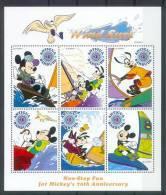 Nct433b WALT DISNEY MICKEY 70 JAAR GOOFY DONALD SURFING ANTIGUA & BARBUDA 1999 PF/MNH - Disney