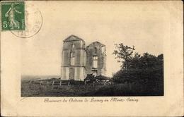 Cp Tourgéville Calvados, Ruines Du Chateau De Lassy Au Mont Canisy - Other Municipalities