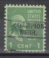 USA Precancel Vorausentwertung Preo, Locals Nebraska, Champion 745 - Vereinigte Staaten