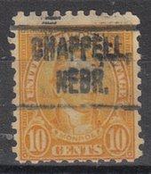 USA Precancel Vorausentwertung Preo, Locals Nebraska, Chappell 591-466 - Vereinigte Staaten