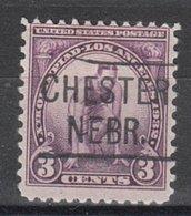 USA Precancel Vorausentwertung Preo, Locals Nebraska, Chester 455 - Vereinigte Staaten