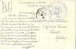 GUERRE 14-18 17e CORPS D'ARMEE – HOPITAL TEMPORAIRE N° 7  ST GAUDENS : HAUTE-GARONNE TàD Du 30-1-15 - Guerre De 1914-18