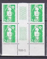 N° 2820 Type Marianne Du Bicentenaire: Beau Bloc De 4Timbres Neuf Impeccable - Neufs