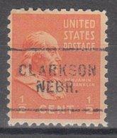 USA Precancel Vorausentwertung Preo, Locals Nebraska, Clarkson 703 - Vereinigte Staaten