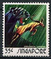 (cl 15 - P35)  Singapour ** N° 203 (ref. Michel Au Dos)  -  La Panthère Noire Et Le Cerf - - Singapour (1959-...)