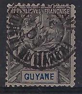 FRANCE  Guyane 1892:   Le Y&T 34,  Superbe Oblitération CAD 'St-Laurent-du-Maroni' Du 6 Juin 1903     TB - Französisch-Guayana (1886-1949)