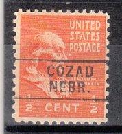 USA Precancel Vorausentwertung Preo, Locals Nebraska, Cozad 745 - Vereinigte Staaten
