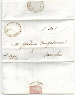REPUBBLICA ROMANA - DA SAN LEO PER CITTA' - 12.2.1849. - ...-1850 Voorfilatelie