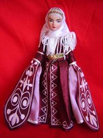 Porcelain Doll In Cloth Dress -Karachay  Republic - Caucassus - Dolls