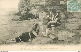 METIERS DE LA MER. Nos Jolies Pêcheuses De Crevettes Sur Les Plages Du Calvados - Fishing
